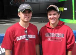 Carnegie Mellon University students Ryan Buckheit and Paul Kimball, Jr. caught three bass weighing 8 pounds, 8 ounces.