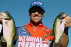 National Guard pro Tim Klinger of Boulder City, Nev., used a catch of 29 pounds, 15 ounces to squeak into the finals at the FLW Series event at Lake Roosevelt.