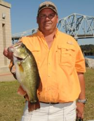 Tripp Pittman of Holly Springs, Miss., has moved into the lead in the Co-angler Division with a two-day total of 26-13.