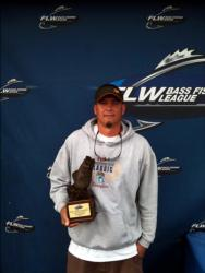 Freddy Rutkowski of Brookwood, Ala., earned $2,302 as the co-angler winner of the Oct. 2-3 BFL Bama event.