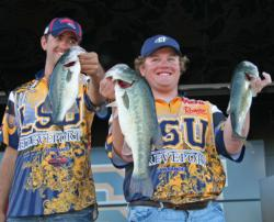 LSU Shreveport barely squeaked into the finale, but Joe Landry and Zach Caudle brought in another big bass that weighed nearly 6 pounds.