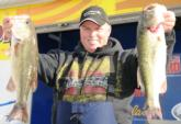 Steve Gregg of Florissant. Mo., is in second place in the Co-angler Division with a five-bass limit weighing 12 pounds, 13 ounces.