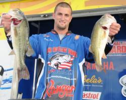 Andrew Luxon of Richmond, Ky., sacked up 13 pounds, 6 ounces to take the lead in the Co-angler Division at Lake Wheeler.