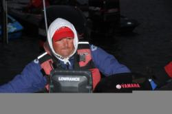 Pat Golden was contemplating a run through the big waves for his morning commute.