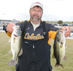 Bill Chapman of Salt Rock, W.Va. weighed in a solid limit for 13 pounds, 9 ounces on day two to move into fourth place with a two-day total of 23 pounds.