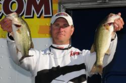 Co-angler Anthony Goggins of Auburn, Ala., finished third with a three-day total of 28-9.