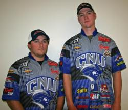 Targeting wind-blown points with crankbaits and spinnerbaits produced the third place catch for Ryan Ingalls and Joe Wilkerson of Christopher Newport.