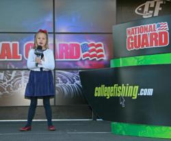 Six-year-old Morgan Eberly gave an amazing performance of the national anthem. Morgan