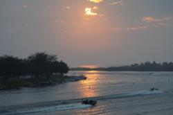 Headed into the dawn on Lake Okeechobee.