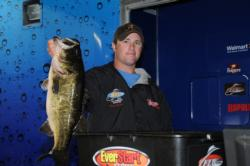Kip Carter of Loganville, Ga., is in fourth place after day one with five bass weighing 26 pounds, 2 ounces.