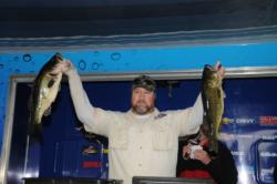 Bill Brown of Vero Beach, Fla., caught a whopping five-bass limit weighing 22 pounds, 5 ounces to take the lead in the Co-angler Division on Lake Okeechobee.