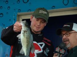 Pro Cody Meyer of Grass Valley, Calif., leapfrogged five spots in the finals to finish the EverStart Series event on Lake Shasta in fourth place.