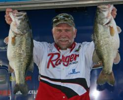 Louisiana pro Kevin Lasyone stayed on one spot all day and caugth his fish Texas-rigging a Yum Dinger.
