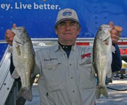 Throwing a Strike King Redeye Shad on points put Dan Wilson in the co-angler lead.