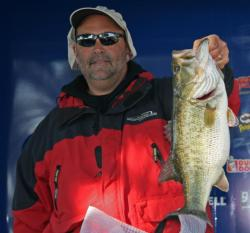 Russell Lohman won the co-angler Big Bass award with a 7-pound, 5-ounce fish.