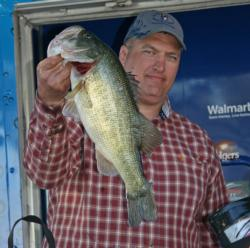 Fourth place pro Matthew Scogin anchored his 18-pound, 12-ounce bag with a 6-pounder.