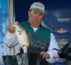 When his main spot dried up, Texas pro David Curtis made a big run and finished out his limit.