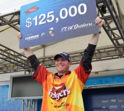 For winning the 2011 FLW Tour season opener, pro Brandon McMillan claimed $125,000.