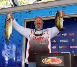 Pro Joe Erwin of Claremore, Texas, placed third with 10 bass, 31-11, $8,403.