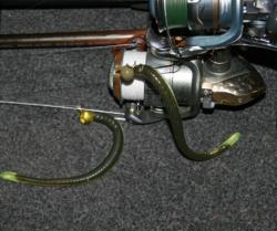 Shaky head worms could be one of the productive finesse baits on Roosevelt.