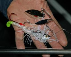 Dredging a heavy spinnerbait in 45 feet of water will be the main deal for fifth place pro Dean Kreuzer.