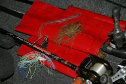 Co-angler leader Mike Rychard will fish a dropshot, jig and spinnerbait on day three.