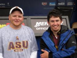 Coming in second at Lake Roosevelt was the Arizona State University team of Joseph Jarrell and Kyle Keegan with five bass, 9-13, $3,000.