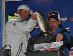 Local pro Mark Kile slow rolled spinnerbaits throughout the tournament.