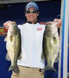 In second place in the Co-angler Division is Alex Posey of Roswell, Ga., with a limit weighing 22 pounds, 15 ounces.