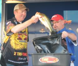 Casey Martin of Huntsville, Ala., finished third with a three-day total of 63 pounds, 12 ounces worth $10,000.