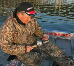 National Guard pro Mark Rose will spend much of his time throwing a Strike King KVD HC Crankbait 1.5.