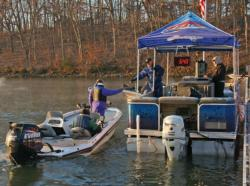 A bright, sunny morning greeted anglers at boat check.