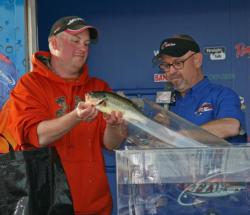 Day one leader Marty Bohlke Jr finished third in the co-angler division.