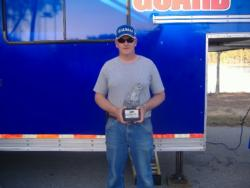 Non-boater Jeff Rikard of Leesville, S.C., took home the Walmart BFL title on Clarks Hill Lake with a 20-pound, 1-ounce catch. Rikard won a first-place prize of $2,545 at the Savannah River Division event.
