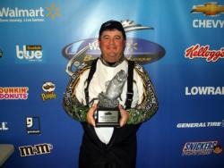 Co-angler Dennis Spell of Desloge, Mo., earned $1,940 as winner of the March 19 BFL Ozark event.