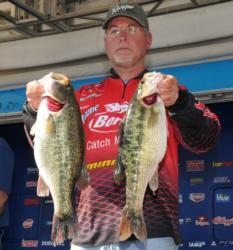 Keith Honeycutt of Temple, Texas leads the Co-angler Division of the Walmart FLW Tour Major on Lake Hartwell.