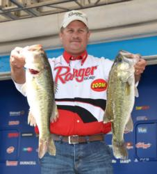 Todd Auten is in third place after day two with 32 pounds, 14 ounces.