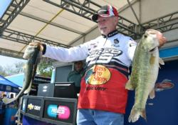 Stacey King rallied to fifth place after catching 18 pounds, 10 ounces Friday.