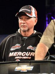 Stacey King sits in third place with one day of fishing left on Lake Hartwell.