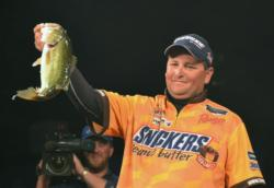 Third-place pro Ramie Colson Jr. holds up his kicker from day four on Lake Hartwell.