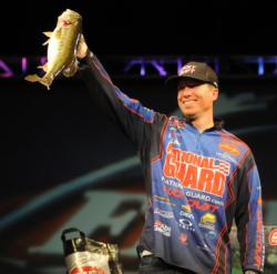 Brent Ehrler charged into second place on the final day with 15 pounds, 8 ounces.