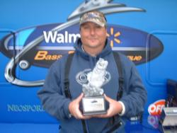Non-boater John Davis of Newport News, Va., finished in first place at the Walmart BFL Shenandoah event on Smith Mountain Lake with a total catch of 13 pounds, 14 ounces. Reynolds took home a winning check totaling more than $1,800.