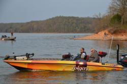 Another beautful day appeared to be in store for collegiate anglers as they departed the Kenlake marina shortly after 7 a.m.