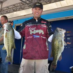 Clifford Pirch is in second place after catching a 23-pound, 5-ounce limit.