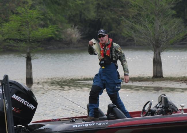 Co-angler leader Keeton Blaylock shows off solid keeper.