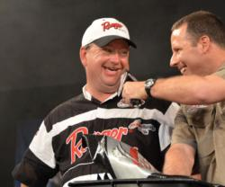 Co-angler Mark Horton finished third with a total weight of 34 pounds, 1 ounce.