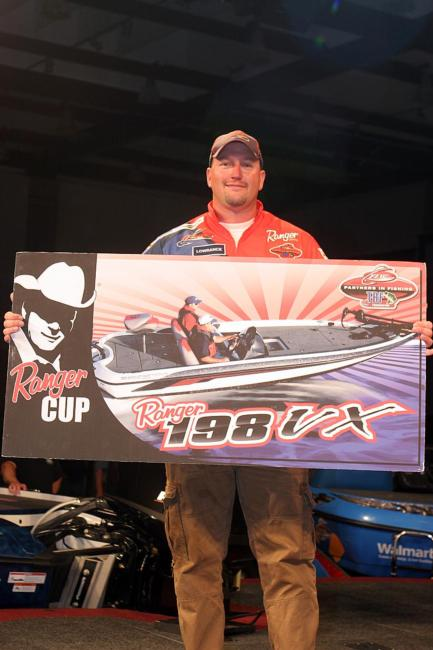 Kenny Beale Jr. of Virginia may have fallen from first to third overall, but as the highest-placing Ranger Cup angler in the TBF National Championship, he