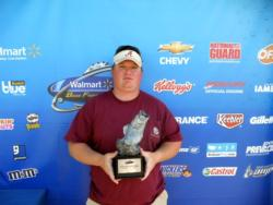 Tom Frey of Oxford, Ala., earned $2,000 in the Co-angler Division as winner of the April 16 BFL Bama event.