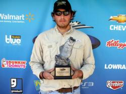 Cody Sizemore or Eatonton, Ga., earned $2,059 in the Co-angler Division as winner of the April 16 BFL Bulldog event.