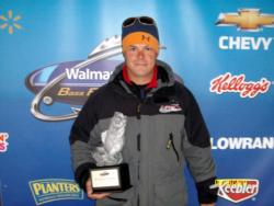 Brian Gray of Watseka, Ill., earned $1,713 in the Co-angler Division as winner of the April 16 BFL LBL event.